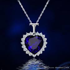 crystals fashion necklace images Wholesale 2018 crystals titanic heart ocean love necklaces jpg