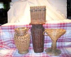 Wicker Vases Wicker Vase Etsy