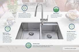 crosstown stainless steel kitchen sinks elkay install sink as a top mount or undermount ultra thin flat rim virtually eliminates the barrier between sink and counter for a clean look