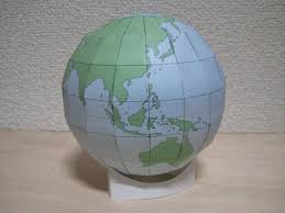 simple globe free papercraft template download http www