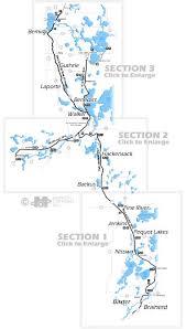 map mn paul bunyan trail map trail section information brainerd mn