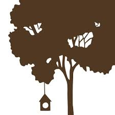 tree hugger wall graphic by elly nelly