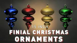 15 inch finial ornament pro designer series