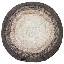Circular Bathroom Rugs by Just Contempo Gradient Round Bath Mat Brown Amazon Co Uk
