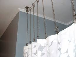 Cheap Curtain Rod Ideas Lowes Curved Shower Curtain Rod Eyelet Ideas Round Design Circle