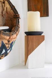 diy rustic modern candle holders mountainmodernlife com