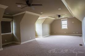 attic home theater room enjoy the show the hall way