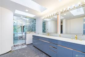 modern master bathroom with drop in bathtub u0026 flush in redmond wa