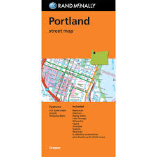 Maps Portland Oregon by Folded Map Portland Oregon Street Map