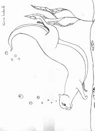 sea otter coloring pages man winter meltdown basking otter