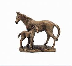 reflections bronze mare foal ornaments leonardo collection