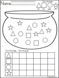 st patrick day shapes worksheets funnycrafts