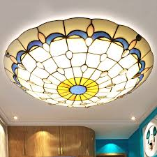 Stained Glass Ceiling Light Affordable Stained Glass Shade Modern Ceiling Lighting For Bathroom