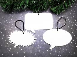 cat silhouette ornaments christmas tree decorations cat lover