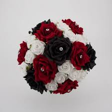 red and black wedding center pieces black red and white bridal