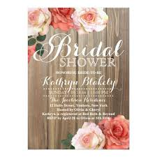wedding shower invites rustic roses bridal shower invitations zazzle