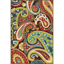 5x7 Outdoor Area Rugs Orian Rugs Paisley Monteray Multi Colored Area Rug Walmart Com