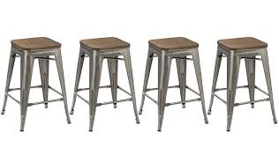 Modern Wood Bar Stool Btexpert 24 Inch Metal Vintage Antique Style Gunmetal