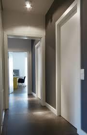 bright narrow corridor office view industrial design apartment