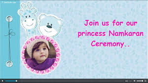 Birth Ceremony Invitation Card Free Naming Ceremony Namakaran Invitation Card U0026 Online Invitations