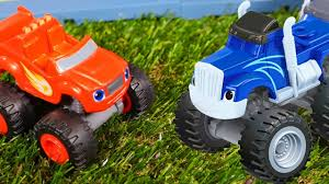 bigfoot presents meteor and the mighty monster trucks blaze and crusher race cars u0026 monster trucks toy cars videos