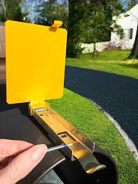 Wall Mount Mailbox With Flag Mail Time Yellow Mailbox Alert Signal Flag For Long Driveways