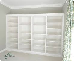 How To Build In Bookshelves - diy built in bookshelves using ikea units also includes a how to