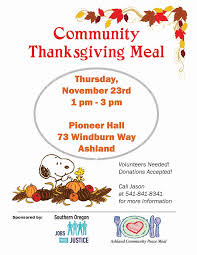 sojwj organizing community thanksgiving meal southern oregon