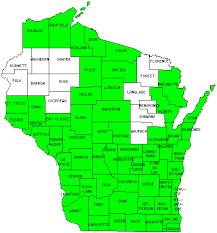 Washington Township Map In Eau by Wisconsin County Map