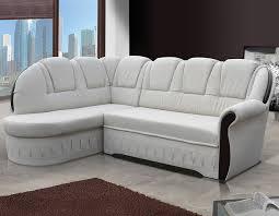 canapé angle blanc canape angle avec couchage tissu beige ou pu blanc