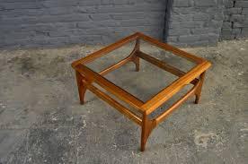 vintage glass coffee table retro vintage mid century teak glass square coffee table danish
