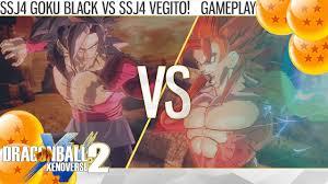 2k dragon ball xenoverse 2 super saiyan 4 goku black vs super