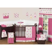 sweet jojo designs 11 piece pink crib bedding set from buy buy baby