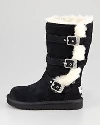womens ugg maddi boots ugg australia kid maddi buckle boot black