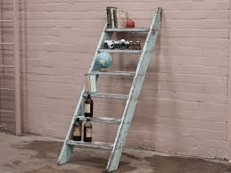 Brown Ladder Shelf Modest Rustic Ladder Shelf Tray From Light Brown Unfinished Wood