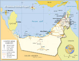 uae map uae states map major tourist attractions maps