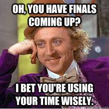 Studying For Finals Meme - survivor finals week