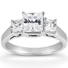 square cut rings images Clarionfinejewelry three stone square cut diamond engagement ring jpg