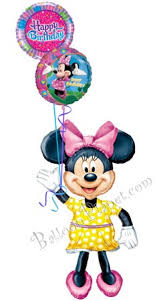 character balloons delivery minnie birthday iii airwalker balloon bouquet 3 balloons