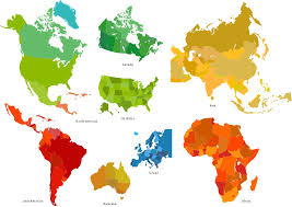 continents on map 7 continents map continent maps informative and well designed
