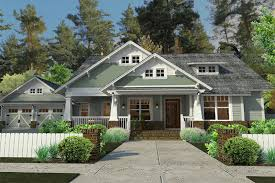 craftsman style house plans one cottage style single home exterior the house designers