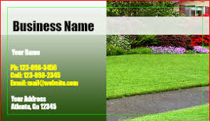 Lawncare Business Cards Landscaping Business Cards Designsnprint