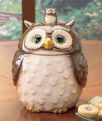 owl kitchen canisters owl canister cookie jar ceramic collectibles wise new brown