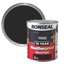 Black Exterior Gloss Paint - ronseal black satin wood paint 750ml departments diy at b u0026q