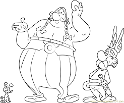 asterix obelix coloring free asterix coloring pages