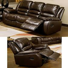 Reclining Leather Sofa Abbyson Living Brownstone 2 Pc Reclining Leather Sofa And Chair