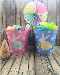 monogrammed easter buckets new savings on personalized metal easter easter bunny