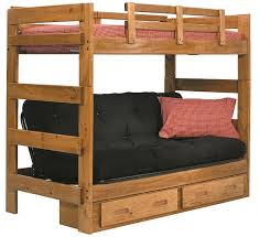 Boone Twin Over Futon Bunk Bed - Twin over futon bunk bed with mattress