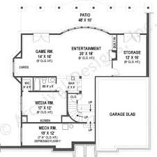 Traditional Floor Plan 100 House Plans With Daylight Basement Galloway Traditional