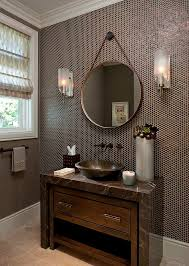 powder room with penny tiles on walls powder room bathroom tile